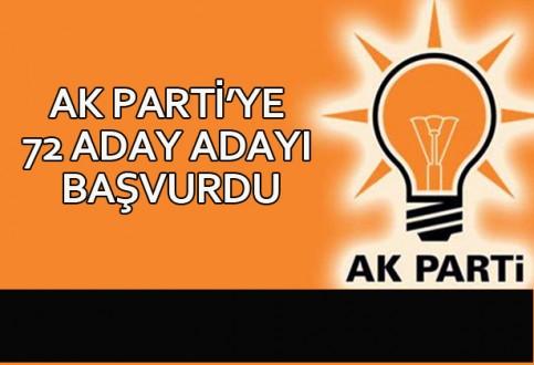 AK Parti'ye 72 Aday Adayı Başvurdu