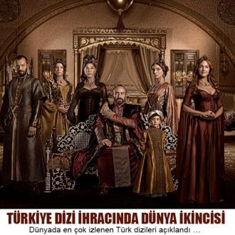 Türkiye Dizi İhracında Dünya İkincisi